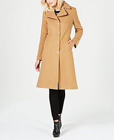 Anne Klein Single-Breasted Midi Coat