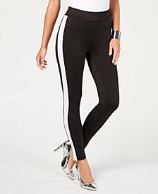 Thalia Sodi Varsity-Stripe Skinny Pants, Created for Macy's