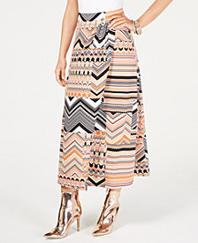 Thalia Sodi Multi-Print Wrap Maxi Skirt, Created for Macy's