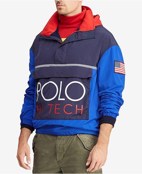 c7ca706dd86 Polo Ralph Lauren Men s Hi Tech Color-Blocked Pullover   Reviews ...
