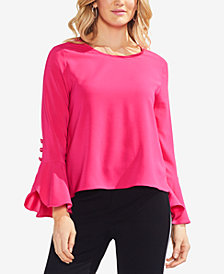 Vince Camuto Flutter-Cuff Top