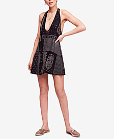 Free People Country Nights Embroidered Halter Dress