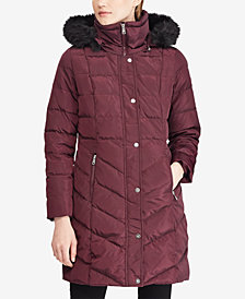 Lauren Ralph Lauren Faux-Fur Down Puffer Coat