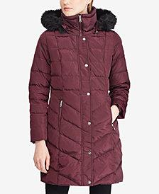 Lauren Ralph Lauren Faux-Fur Down Puffer Coat