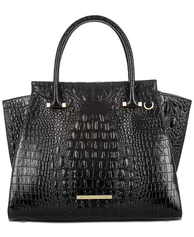 Brahmin Priscilla Melbourne Embossed Leather Satchel