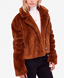 Free People Mena Faux-Fur Coat