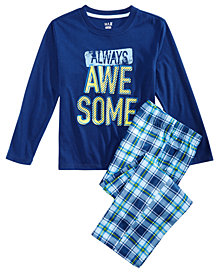 Max & Olivia Little & Big Boys 2-Pc. Always Awesome Pajama Set