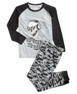 Max  Olivia Little  Big Boys 2Pc CamoPrint Pajama Set