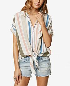 O'Neill Juniors' Striped Button-Up Shirt