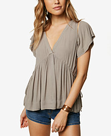 O'Neill Juniors' Juniper Cutout Babydoll Top