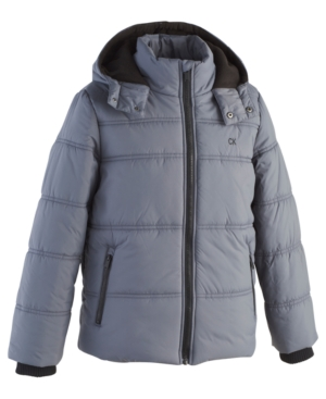 Calvin Klein Little Boys Hooded Bubble Jacket