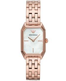 Women's Rose Gold-Tone Stainless Steel Bracelet Watch 24x36mm