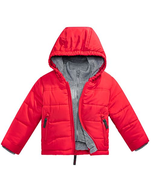 33ec93cc3 S Rothschild   CO S. Rothschild Baby Boys Hooded Layered-Look Puffer ...