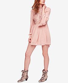 Free People Divine Lace-Trim Mini Dress