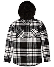 Volcom Big Boys Shader Plaid Hooded Shirt