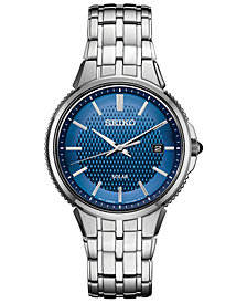 Seiko Men's Solar Essentials Stainless Steel Bracelet Watch 39.4mm