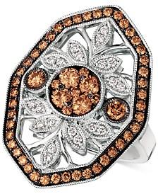 Le Vian Chocolatier® Chocolate Deco™ Diamond Statement Ring (1-1/8 ct. t.w.) in 14k White Gold