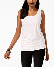 Alfani Ruched Tank Top, Created for Macy's