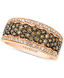 Le Vian Chocolatier® Diamond Pavé Band (7/8 ct. t.w.) in 14k Rose Gold