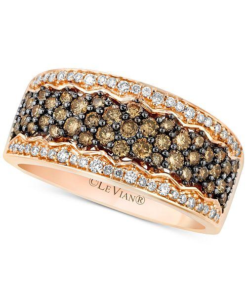 Le Vian Chocolatier® Diamond Pavé Band (7/8 ct. t.w.) in 14k Rose Gold