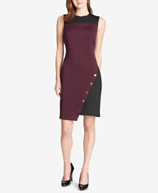 Tommy Hilfiger Colorblocked Asymmetrical Dress