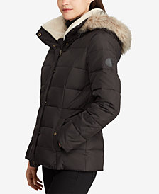 Lauren Ralph Lauren Faux-Fur Quilted Down Coat