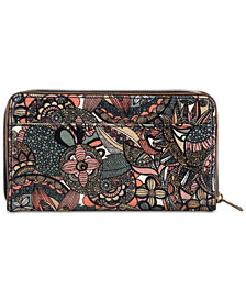 Sakroots Canvas Zip Around Wallet