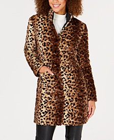Via Spiga Reversible Faux-Fur Coat