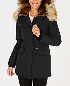 Vince Camuto Faux-Fur-Trim Hooded Parka