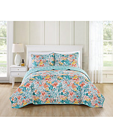VCNY Home Kayla Reversible 3-Pc. Queen Quilt Set