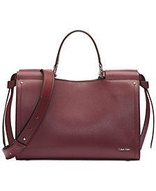Calvin Klein Callie Pebble Leather Tote