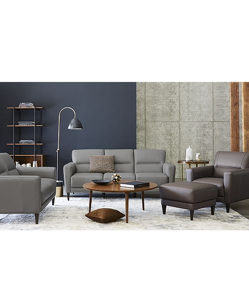 Tosella Leather Sofa Collection, Created for Macy\'s