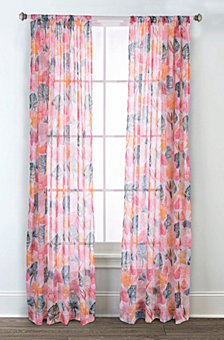 Sara B Calypso Printed Sheer Curtain Panel Set, 84 in