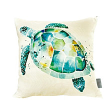 Sara B Sea Turtle Square Accent Pillow