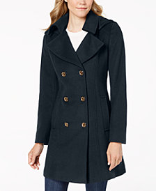 MICHAEL Michael Kors Petite Double-Breasted Wool Peacoat
