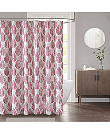 "CLOSEOUT! Décor Studio Leaf 72"" x 72"" Shower Curtain"