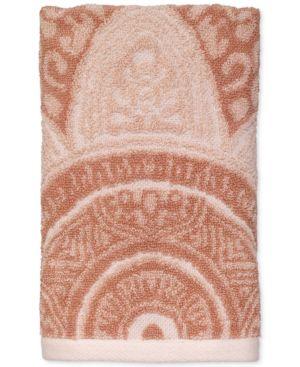 Avanti Sofia Cotton Terry Jacquard Hand Towel Bedding 6686424