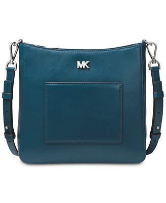be2b835af Michael Kors Gloria Soft Leather Pocket Crossbody & Reviews - Handbags &  Accessories - Macy's