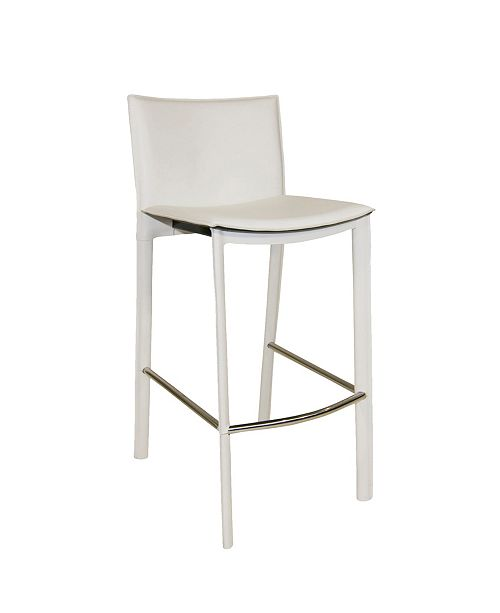 """Moe's Home Collection Panca Counterstool 26"""" White"""