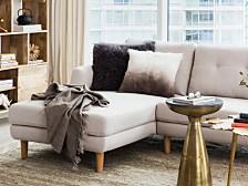 Lamb Fur Pillow Large Gray
