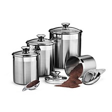 Gourmet 8 Pc Covered Canister & Scoop Set