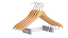 Organize it All Set of 5 Suit/Jacket Hangers with Clips