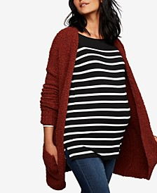 Maternity Open-Front Cardigan