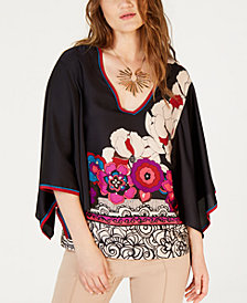 Trina Turk Printed Peasant Top