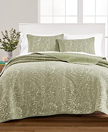 Botanical Quilt and Sham Collection, Created for Macy's