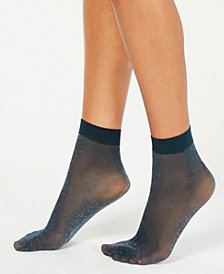 DKNY LUREX®-Metallic Anklet Socks
