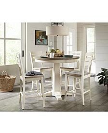 """Custom Dining 44"""" Counter Height Pedestal Table Furniture Collection"""