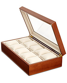 Perry Ellis Men's Wooden Watch Box
