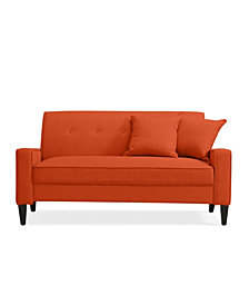Trilby Sofa in Orange Linen