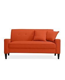Trilby Sofa in Orange Linen